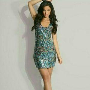 ASOS Rainbow Sequin Dress